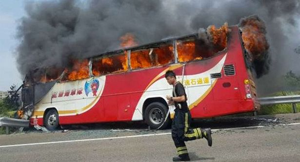 Dozens Dead Bus Accident in Taiwan