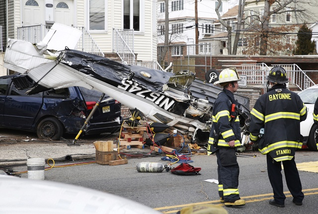 Plane crashes in New Jersey street