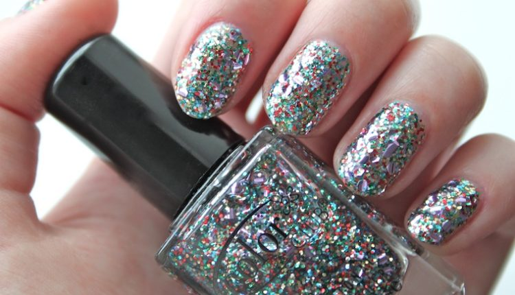 Shaped Glitter Nail polish