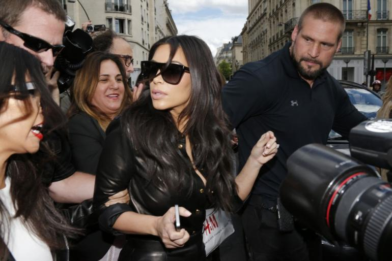 Kim Kardashian cant Sleep without Guards in Paris
