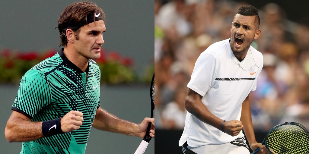 Nicholas Kyrgios Ill-Roger Federer Advances to Indian Wells Semifinal