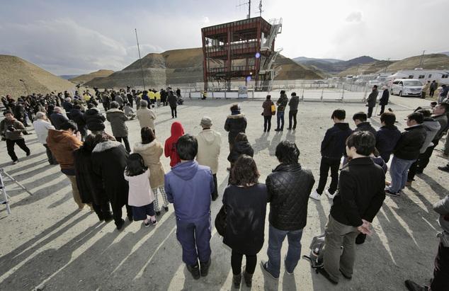 Tsunami Japan-Frozen Hour in Respect to Victims of Fukushima