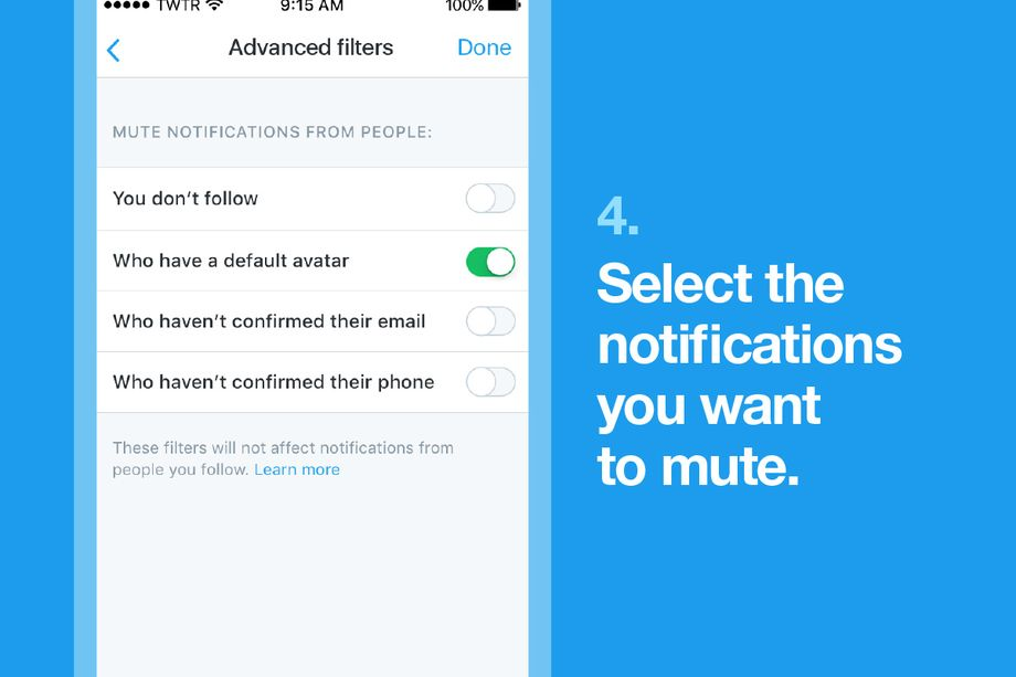 Twitter now allow you automatically ignore anonymous eggs