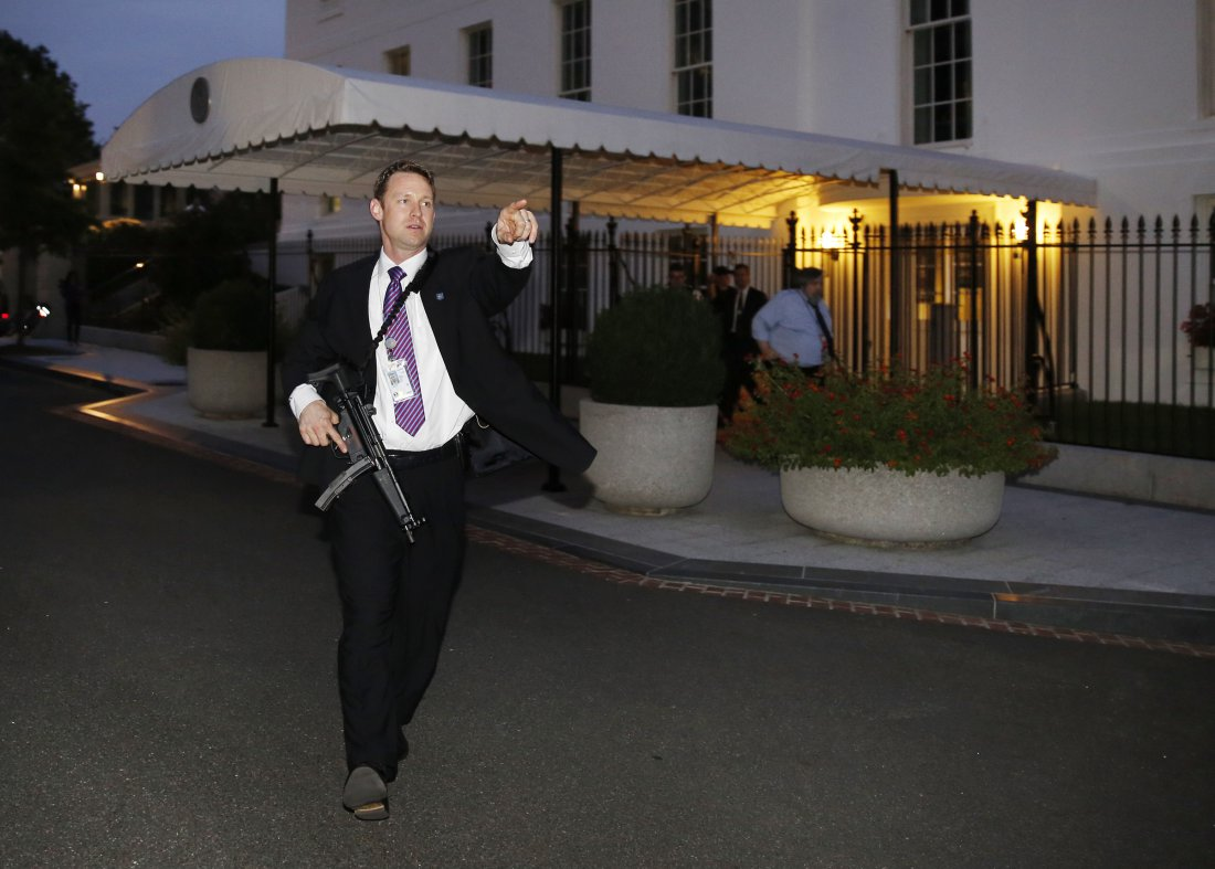 A Man with Backpack Arrested Entering White House