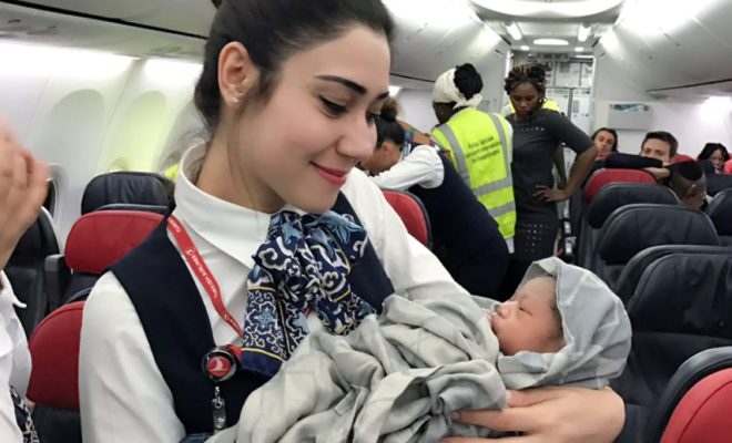 Baby Born During Flight in Turkish Airlines