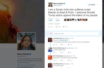 Syrian Refugee Bana Alabed to US Strikes-We dont want World War III