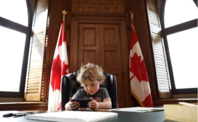 Justin Trudeau Brought his Son to Work