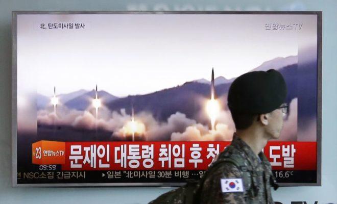North Korea Launches Missile Test in Sea Near Russia
