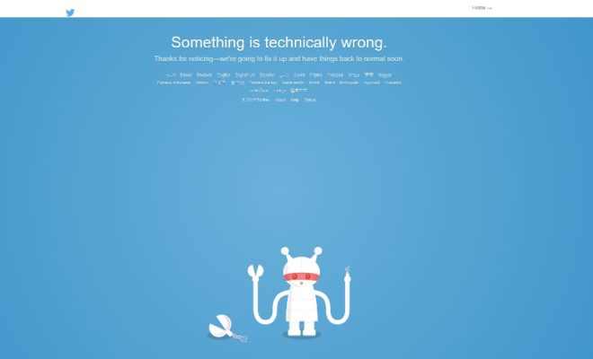 Twitter Social Media App and Website is Down