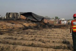 148 Dead in Pakistan-Oil Tanker Crashes and Explodes