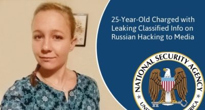 Feds Arrest NSA Contractor in Leak of Russia Top Secret