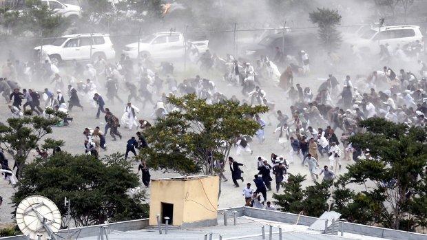Massacre in Kabul Protest Victim Funeral-20 Killed in Blast