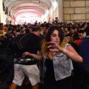 Panic among Juventus Football Fans in Turin