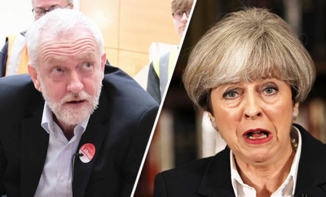 UK election 2017-Theresa May and Jeremy Corbyn Face Off