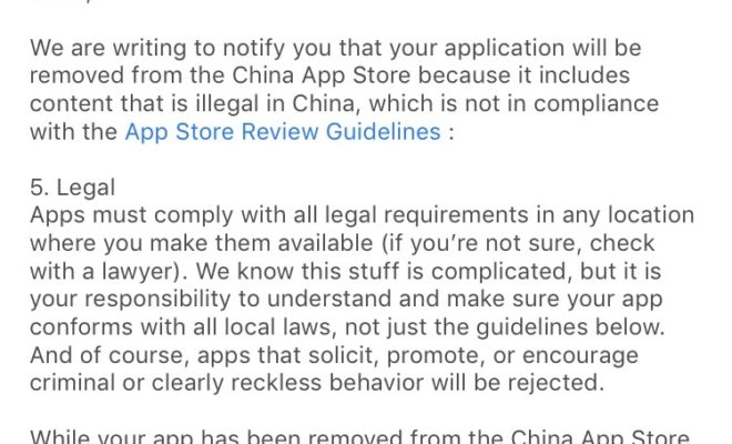 Apple Removes VPN Apps from Chinese App Store