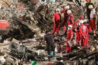 Naples Apartment Block Collapse-3 Bodies found in Rubble