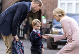 Prince George Starts First Day at School
