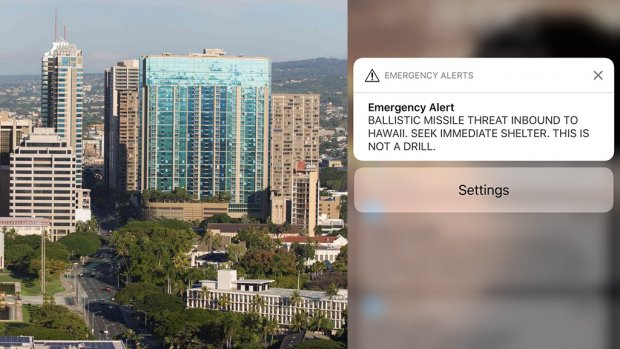 False Missile Alert Hawaii came by Pressing Wrong button