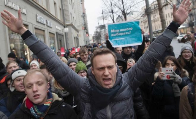 Russian Opposition Leader Alexei Navalny arrested in Moscow