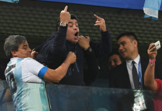 Maradona Admitted to Hospital after Argentine Match