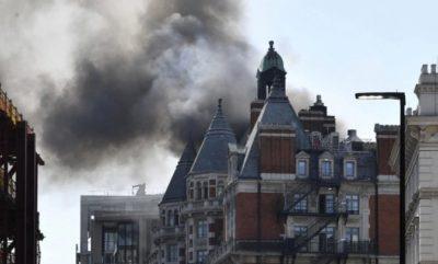 Massive Fire in London Luxury Hotel Under Control