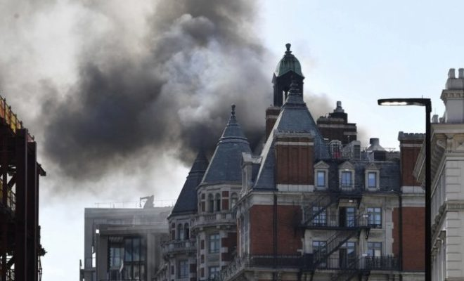 Massive Fire in London Luxury Hotel Under Control