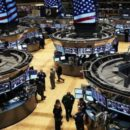 The Stock Exchanges New York with A Lower Opening on Wall Street