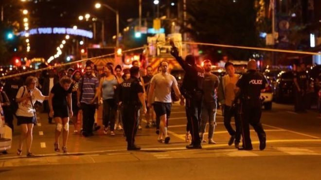 Toronto Canada Shooting: A Gunman Killed 2 People, 13 Injured