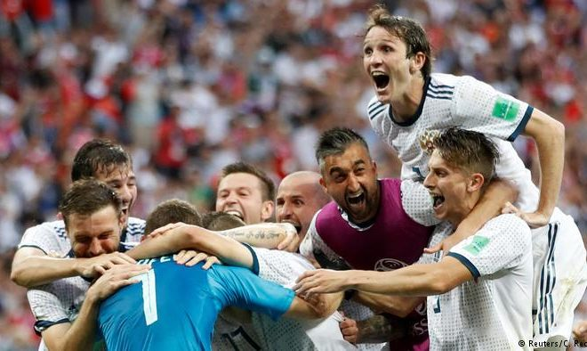 Another Top Team Home: Russia Surprisingly Wins from Spain