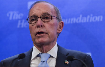 White House Adviser Kudlow Says Fed Remains Independent