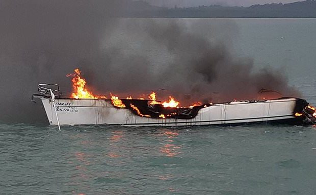 Nine British Tourists Saved from Burning Yacht in Thailand