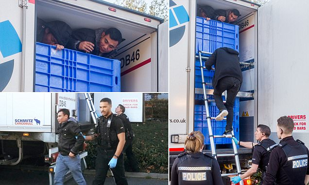21 Vietnamese Illegals Found in Refrigerated Trucks in England