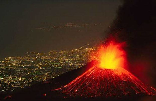 Mount Etna Sicily Italy Erupts for First Time This Year