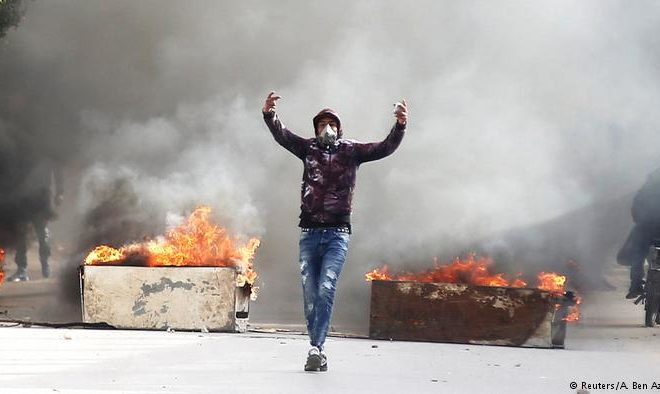 New Protest Wave in Tunisia after Journalist Set Himself on Fire