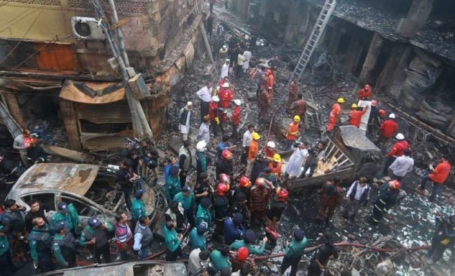 78 Dead in A Fire in Historical Part of The Capital Bangladesh