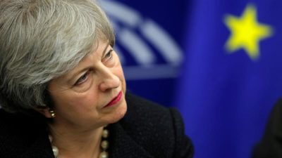 UK Prime Minister Theresa May Hangs on A Silk Thread
