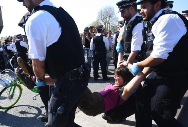 Climate Activists Occupy London, More than 800 Arrests