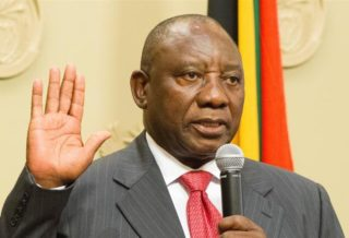 South African President Ramaphosa sworn