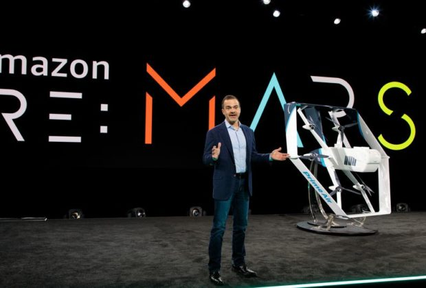 Amazon Shows off New Delivery Drone at A Meeting in Las Vegas