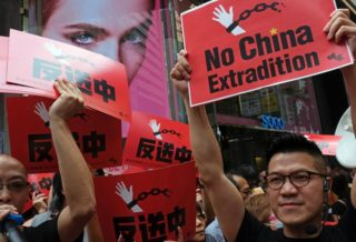 Mega Demonstration in Hong Kong against Extradition Law China