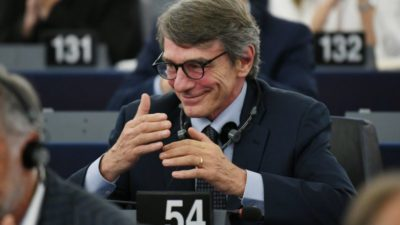 European Parliament Elects Italian Sassoli as New President