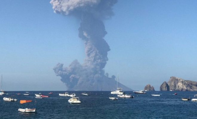 Stromboli Volcano Italy: Another Massive Explosion Today