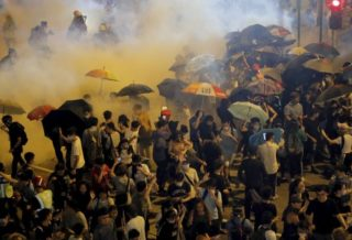 Angry Protesters: The Police Play Cat and Mouse Game across Hong Kong