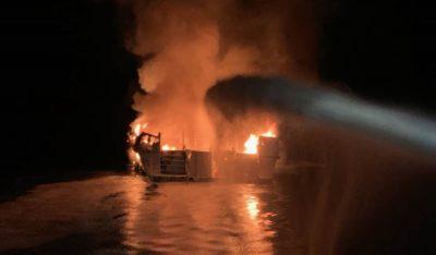 Dozens of People Stuck on Burning Boat near Los Angeles