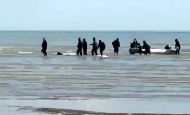 Seventeen Migrants Intercepted on the Channel, Including Five Children and A Baby