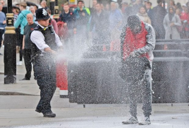 A Man Doused Himself in Flammable Liquid Outside Parliament