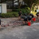 Chinese Army Helps Hong Kong with Cleaning Up the Streets