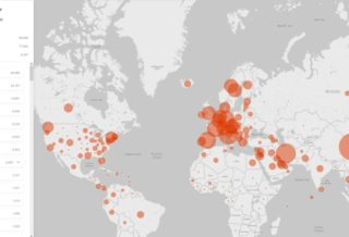 Microsoft's Covid-19 Tracker Shows the Number of Infections Per Country Live